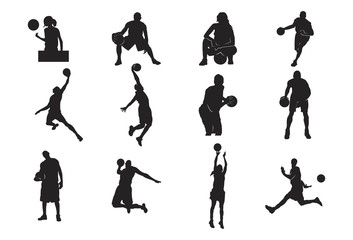 Silhouette of Basketball