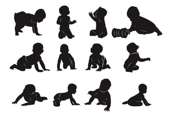 Silhouette of Baby