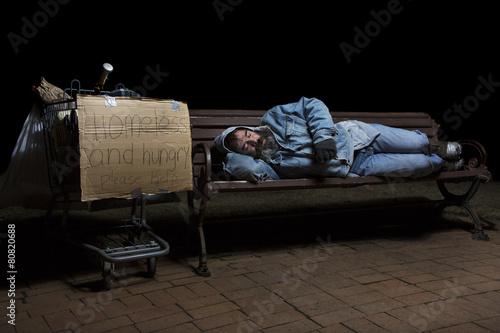 Sleeping Homeless - 80820688