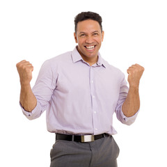middle aged man holding fists
