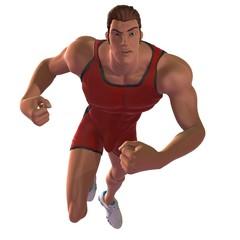 Running Muscle Man