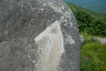 AT Trail Marker on Rock