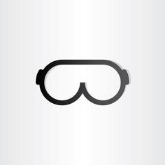 glasses line icon design element