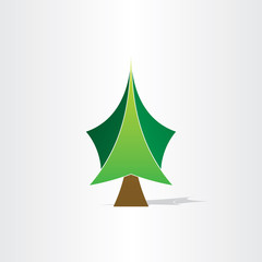 green christmas tree icon design