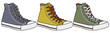 Three color sneakers - 80822490