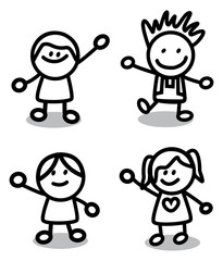 Funny Children friends Group