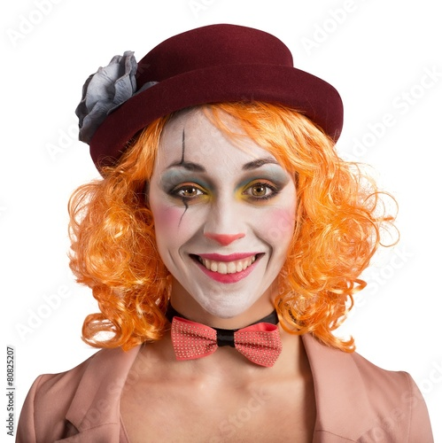 Leinwanddruck Bild Smile clown