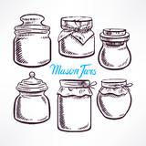 sketch mason jars - 2