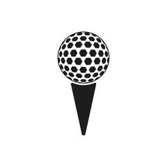 The golf ball icon. Game symbol. Flat