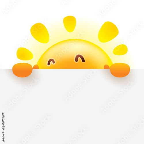 Zdjęcia na płótnie, fototapety, obrazy : Summer sun with big sign