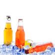 Leinwandbild Motiv bottles with drink