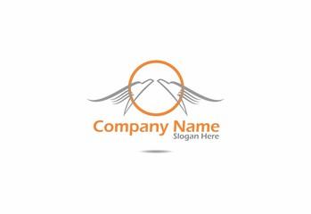 bird, logo, business, company icon, globe, circle, vector
