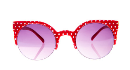 Red and white peas sunglasses