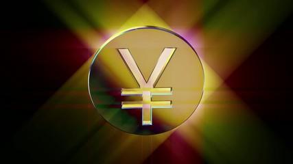 golden yen currency symbol money