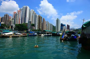 View of the Aberdeen, Hong Kong.