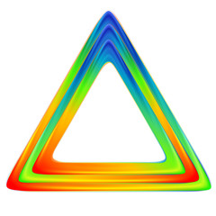 Bright triangle logo. Rainbow colors