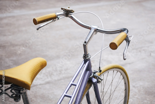 Fotobehang Fiets Vintage Hipster bicycle Close up