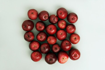 Apples - top view