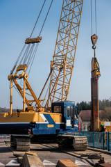crane and dam