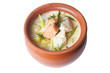 fish soup cream in pot on a white background - 80830875
