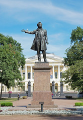 Monument of Alexander Pushkin, Russian poet, St. Petersburg