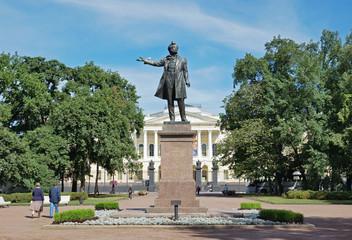 Monument to poet Alexander Pushkin, St. Petersburg, Russia