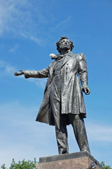 Monument to poet Pushkin, St. Petersburg, Russia