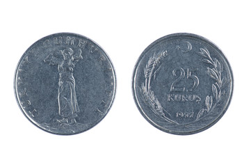 Turkey kurus coin