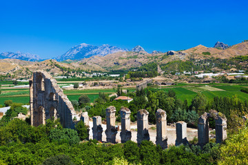 Aqueduct at Aspendos in Antalya Turkey