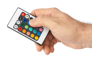 Remote control for change colors in hand