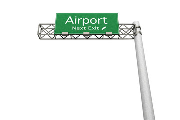 Highway Sign - Airport