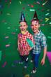 Birthday of happy twins