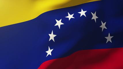 Venezuela flag waving in the wind. Looping sun rises style