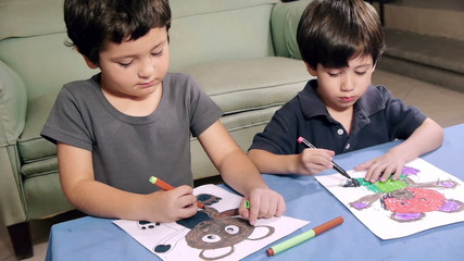 Young Boys Coloring Drawings