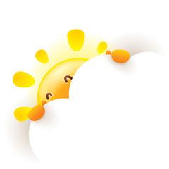 Summer sun hides behind a cloud