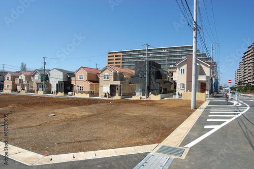 宅地造成と戸建て住宅分譲地 イメージ