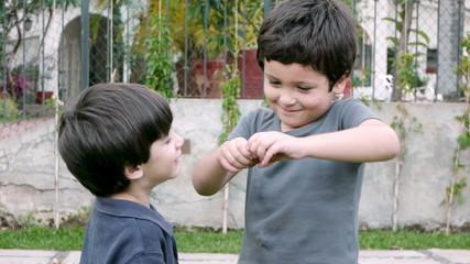Boys Share Twinky Cake