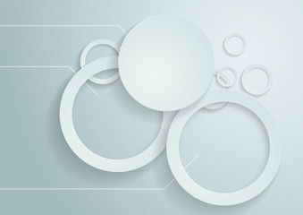 White Circles Vector Background