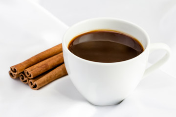 cup coffee with cinnamon