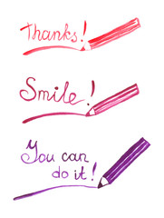 Thanks, smile, you can do it lettering