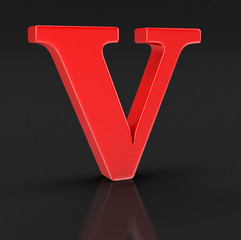 Letter V (clipping path included)
