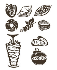 vector collection of arabian food images