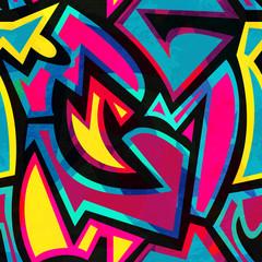bright mosaic geometric seamless pattern