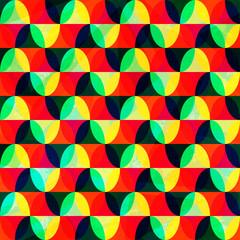 bright mosaic seamless pattern