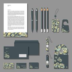 Vector corporate identity poligonal design.