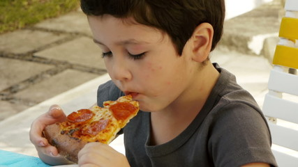 Kid with Acne Eats Pizza
