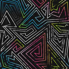 spectrum colored seamless pattern