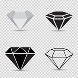 Icons variety diamonds on a gray checkered background vector - 80842673