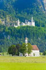 Schloss Neuschwanstein und Wallfahrtskirche St. Coloman