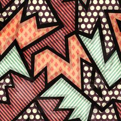 cloth geometric seamless pattern with grunge effect